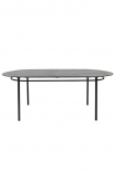 cutout Image of the Sungkai Wood Black Oval Dining Table on a white background