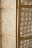 Sungkai Woven Cane Wooden Room Divider/Screen - Natural