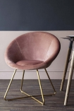 Dining lifestyle image of The Grand Velvet Circular Dining Chair in Rose Pink