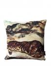 cutout image of the Sleeping Tiger Velvet Cushion on white background