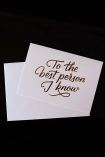 To the Best Person I Know Greeting Card