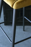 Casino Velvet Bar Stool - Golden Ochre