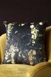 Lifestyle image of the Grape Vine Velvet Cushion