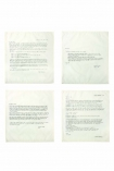 Set Of 4 Vintage Letter Napkins: Letters Of Advice From Charles Dickens, F. Scott Fitzgerald, Thomas Jefferson & Rudyard Kipling