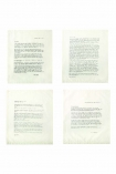 Set Of 4 Vintage Letter Napkins: Love Letters From Emily Dickinson, D. H. Lawrence, Jack London & Mark Twain