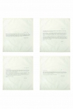 Set Of 4 Vintage Letters Napkins: Love Letter From Charlotte Bronte, Voltaire, Oscar Wilde & Virginia Woolf