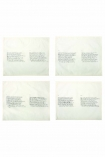 Set Of 4 Vintage Letter Napkins: Shakespearean Sonnets 1-8