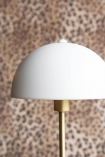 Close-up image of the shade on the Art Deco Canopy Table Lamp - Matt White