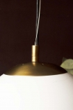 Close-up image of the top of the Atlas Globe Pendant Light