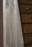 Close-up detail image of the side of the Traditional Apothecary Cabinet Style Wooden Storage Wall Unit