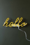 Yellow Hello Neon Light