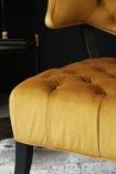 detail image of seat on Cloud Velvet Chair - Golden Glow
