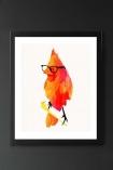 Unframed Punk Bird Fine Art Print