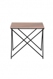 cutout image of Rose Tinted Marble Side Table on white background