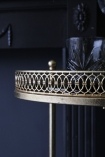 detail image of detail on rim of Antique Style Gold Metal Drinks Trolley