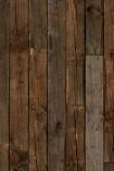 square detail image of NLXL PHE-10 Scrapwood Wallpaper by Piet Hein Eek - Dark Brown Sleepers dark brown wooden vertical panel repeated pattern