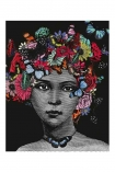 Unframed Butterfly Lady Open Edition Art Print