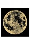 cutout image of Unframed Gold Moon Art Print gold moon on black background on white background