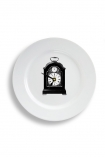 cutout image of Plate Clock - London on white background