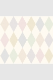 detail image of Cole & Son Whimsical Collection - Punchinello Wallpaper - Chalky Pastels 103/2010 - ROLL repeated diamond pattern