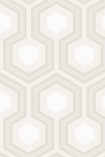 detail image of Cole & Son Contemporary Restyled - Hicks' Grand Wallpaper - Ivory 95/6037 - ROLL honeycomb hexagon geometric repeated pattern