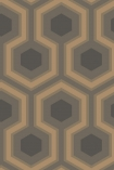 detail image of Cole & Son Contemporary Restyled - Hicks' Grand Wallpaper - Bronze 95/6033 - ROLL honeycomb repeated pattern