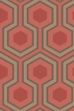 detail image of Cole & Son Contemporary Restyled - Hicks' Grand Wallpaper - Red 95/6038 - ROLL honeycomb hexagon geometric repeated pattern