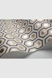 landscape detail image of roll of Cole & Son Contemporary Restyled - Hicks' Hexagon Wallpaper - Ivory 95/3016 - SAMPLE
