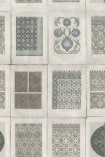 detail image of Mind The Gap Wallpaper Collection - Arabesque - Roll botanical patterned tiles repeated pattern