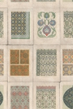 detail image of Mind The Gap Wallpaper Collection - Arabesque - Multi Coloured botanical patterned tiles repeated pattern