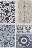 detail image of Mind The Gap Wallpaper Collection - Chinese Pattern - Blue blue and white oriental style patterned tiles