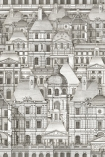 detail image of Mind The Gap Wallpaper Collection - Louvre - Monochrome crowded architecture repeated pattern