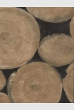 detail image of Andrew Martin Engineer Collection - Lumberjack Log Wallpaper - Beech - SAMPLE