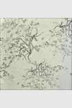 square detail image of Kyoto Wallpaper - Grey 00 - ROLL oriental style tree pattern on pale grey background