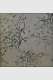 square detail image of Kyoto Wallpaper - Grey 06 - ROLL dark oriental styl e tree pattern on grey background