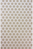 detail image of Nina Campbell Gioconda Flock Wallpaper - White/Taupe NCW4273-03 - ROLL taupe nude small circles on white background repeated pattern