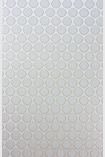 detail image of Nina Campbell Gioconda Flock Wallpaper - Natural NCW4273-04 - ROLL white small circles on silver background repeated pattern