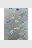 detail image of Matthew Williamson Dragonfly Dance Wallpaper - Blue W6650-02 - ROLL blue dragonflies on silver background