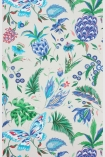 detail image of Matthew Williamson Habanera Wallpaper - Pebble/Ultramarine/Cerulean Blue W6803-03 - SAMPLE tropical pattern on ivory background