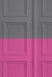 Grey - Grey/Rose Panelling Wallpaper