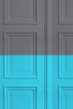 Grey - Grey/ Turquoise Panelling Wallpaper