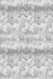 cutout image of 17 Patterns Brushed Herringbone Wallpaper - Grey - SAMPLE grey and white smudged repeated pattern