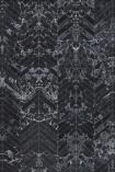NLXL PHM-55 Black Marble Herringbone Tiles Wallpaper By Piet Hein Eek