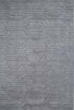 cutout image of Circuit 100% Wool Rug - Light Grey 02 - 120cm x 170cm on white background