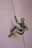 Image of the Right Handed Abseiling Man In Antique Gold