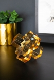 Image of the Large Amber Crystal Cubes Decorative Ornament