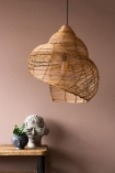 Image of the Large Beautiful Spiral Shell Shaped Rattan Ceiling Light