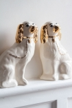 Image of the Set Of 2 Left & Right Hand Painted UK Made Cavalier King Charles Spaniel Dog Coin Bank