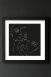 Image of the Framed Black Lovers Art Print