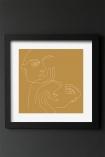 Image of the Framed Gold Lovers Art Print